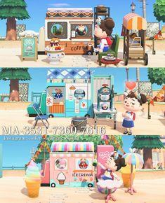 Animal Crossing Cafe, Animal Crossing Villagers, Ice Shop, Motif Acnl, Theme Nature, Ice Cream Van, Motifs Animal, Mobile Shop, Pokemon