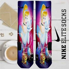 Disney Cinderella and Shoes Custom Nike Elite Socks