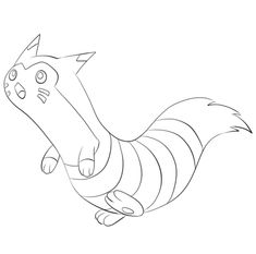 Click To See Printable Version Of Furret Coloring Page