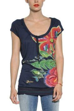 Desigual Women's Fashion Blouse Top Tee T-shirt Felki 31t2564,