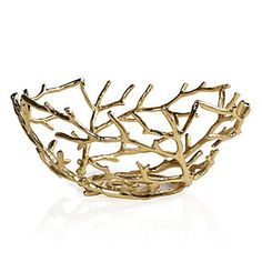 Gold-tone electroplated metal Branch Bowl, $69.95 #ZGallerie