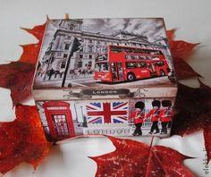 """Чайная шкатулка """"Лондон"""" - чайная коробка,чайная шкатулка,лондон,англия"""