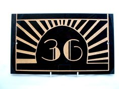 Nice art deco type... House number plaques would make awesome table numbers.