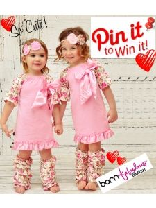 "This would be so cute for an Easter Dress for baby or little girl!  Pin It To Win It! #PinToWin Available at www.BornFabulousBoutique.com  To enter:  1. Pin this photo with its full description on one of your own Pinterest boards. 2. Like our page at Pinterest.com/BornFabulousPin 3. Leave a comment on this original pin stating, ""Pinned to Win!""  4. Winner will be announced on our Facebook page on April 11, 2014!"