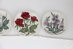 Oravanpesä | Arabia Botanica Chamanerium angustijolium and Rosa polyantha by Esteri Tomula for Arabia
