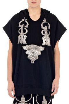 Jewel Embroidered Patch Short Sleeve Hoodie | Kokon to Zai