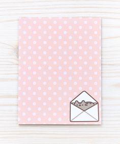 Polka Dot Pusheen notepad