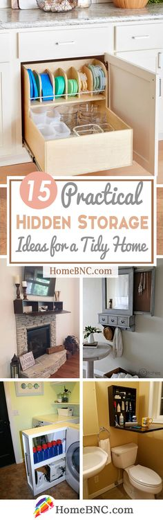 15 Space-saving Hidden Storage Ideas to Help Keep Your Home Tidy - Homebnc.site - Beautiful and Creative Home Design and Decor Ideas Dry Food Storage, Storage Hacks, Hidden Storage, Diy Storage, Storage Shelves, Storage Ideas, Decorating Your Home, Diy Home Decor, Room Decor