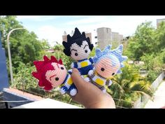 COMO TEJER CABELLO VEGETA AMIGURUMI A CROCHET - YouTube E Craft, Finger Puppets, Dragon Ball, Projects To Try, Crochet Hats, Dolls, Sewing, Prints, Youtube
