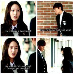 "Hahahaha.. cute !! Lee Min Ho and Krystal ♡ #Kdrama - ""HEIRS"" / ""THE INHERITORS"""