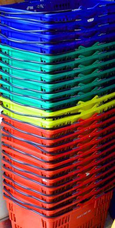 Rainbow Baskets.