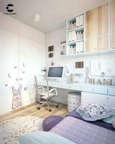 Boy Toddler Bedroom, Girl Room, Girls Bedroom, Bedroom Decor, Bed Furniture, Furniture Design, Dressing Room Decor, Wardrobe Room, Teenage Room