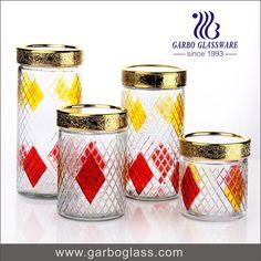 GLASS fOOD STORAGE POT GLASS JAR WITHLID /GLASS CANDY JAR