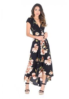 7619f741d6 Gotta love this gorgeous floral maxi dress! Love the black flower print  pattern