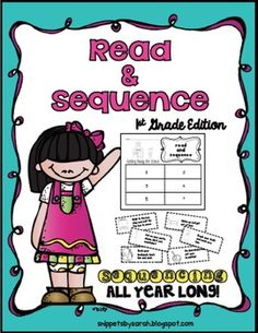 I put together all of my Read and Sequence pages from my monthly center menus and holiday packs (plus a few extra). Have your students practice sequencing all year long with this pack.  ~Getting Ready for School ~Apple picking (two levels) ~How to Go Trick or Treating (2 levels) ~Pumpkin to Pumpkin pie (2 levels) ~Apples to Applesauce (2 levels) ~Seed to Pumpkin (2 levels) ~Raking leaves ~The 1st Thanksgiving (2 levels) ~How to wrap a gift ~Decorating a Christmas tree (2 levels) ~Making ...