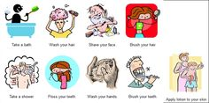 Taking care of yourself activities on http://www.johnmh.com/hygiene/snds.html