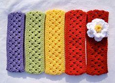 Free Pattern: Crochet Granny Stripe Headband/Earwarmer to make!