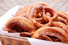 Gluten Free - Basket of soft pretzels