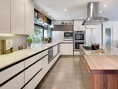 Contemporary Kitchens from Nar Bustamante on HGTV  love the window down to counter height