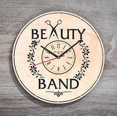 Hairdresser Wood Wall Clock $31.99 Size - 12 in / 30 cm Really cool gift and unique home decoration ;) Can be personalized for free ;) Free Shipping WORLDWIDE. Tracking ID is provided. In case the clock comes broken or with defect, I will make you a refund or will send you a replacement!