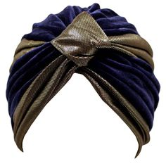 Luxury Divas Luxurious Black & Gold Velvet Turban Hat Head Cover Sun Cap at Amazon Women's Clothing store: Headwraps Headwear