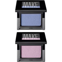 MAKE Satin Finish Eyeshadow Duo ($35) ❤ liked on Polyvore featuring beauty products, makeup, eye makeup, eyeshadow, 35. eye makeup., beauty, no color, shadow brush, hypoallergenic eyeshadow y eye shadow