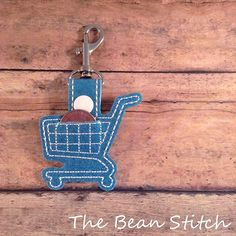 Shopping Cart Coin Holder - for both US and International Coins  | The Bean Stitch.  Have