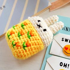 Protective Knitted Case for Airpods Handmade Cute Cartoon knitting wool Protector Cove for Apple air pods Accessories Crochet Case, Cute Crochet, Knit Crochet, Knitting Wool, Airpod Case, Iphone Accessories, Cute Cartoon, Lana, Free Pattern
