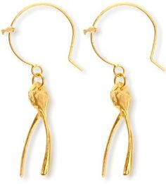 Claire English wishbone earrings: Best of British jewellery designers