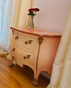 painted with roses Hope Chest, Storage Chest, Roses, Cabinet, Furniture, Home Decor, Clothes Stand, Decoration Home, Pink