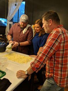 Chef Dallas McGarity teaches foodwriter, Dana McMahan to make gnocchi. #fatlamblouisville #eatportagehouse
