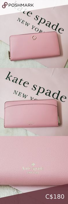 ♠️ Kate Spade Wallet♠️ Brand new. In a gorgeous pink color. Interior has a deep wine color 😍😍. So gorgeous! 12 card slots, zipper for coins and 6 other compartments for additional things. Please ask any questions you may have. Happy to answer them all. I'm always open to offers so send them thru. 😉 Also check my other items. I'm having a clear out. kate spade Bags Wallets Kate Spade Wallet Black, Black Wallet, Kate Spade Pink, Kate Spade Bag, Tom Ford Lipstick, Kate Spade Minnie Mouse, Kate Spade Card Holder, Color Interior