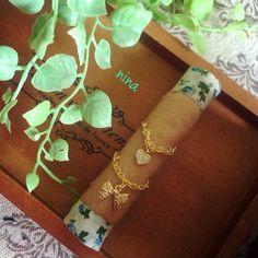 シンプルなネックレス風の指輪です♡モチーフはリボンかハートがございます♡サイズフリーです♡|ハンドメイド、手作り、手仕事品の通販・販売・購入ならCreema。