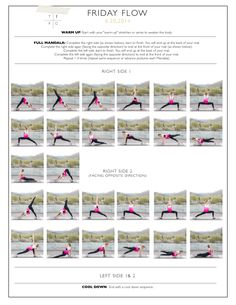 Website link doesn't work- but these pictures I have reposted show some decent ideas to build sequences from.  YOGA Flow