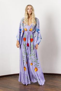 """""""Strange Magic"""" Women's embroidered duster - Lavender Fillyboo - Boho inspired maternity clothes online, maternity dresses, maternity tops and maternity jeans. Skirt Outfits Modest, Modest Skirts, Dress Skirt, Dress Outfits, Maternity Clothes Online, Maternity Tops, Maternity Dresses, Maternity Jeans, Hippie Dresses"""