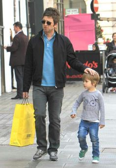 Noel Gallagher and his son