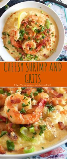 CHEESY SHRIMP AND GRITS #healthy #recipe