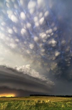 Mammatus Clouds over Burwell, Nebraska, USA photography by Ryan McGinnis Mammatus Clouds, Sky Art, Nebraska, Natural Beauty, Nature, Photography, Outdoor, Usa, School