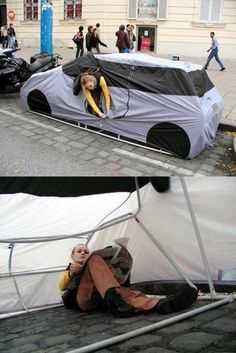 Urban Camping or how to save your parking spot:)
