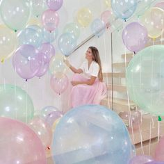 Buy Crystal Pastel Balloons - 12 inch Crystal Latex Balloons, Baby Shower Rainbow Pastel Birthday Party Decoration at Wish - Shopping Made Fun Blue Balloons, Latex Balloons, Clear Balloons, Transparent Balloons, Rainbow Balloons, Helium Balloons, Baby Nursery Diy, Diy Baby, Baby Shower Balloons