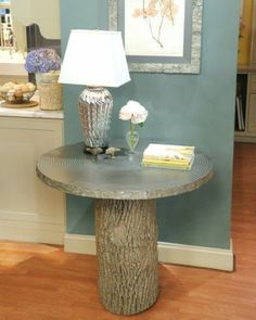 "See the ""Tree-Stump Table"" in our  gallery"