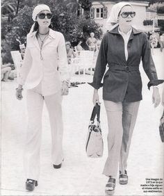1973 - Princesses Grace and Caroline of Monaco, always so chic!