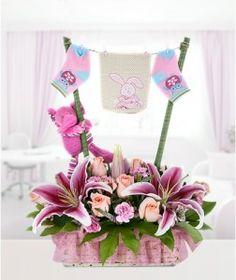 arreglos florales para baby shower niño - Buscar con Google