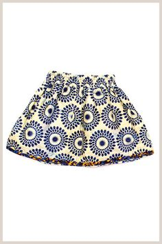 Ode Childrens Skirt - Blue - ethically made in Rwanda # beautiful African Inspired Fashion, African Fashion, Kids Fashion, Outfits Niños, Kids Outfits, Baby African Clothes, Bohemian Girls, African Wear, Stylish Kids