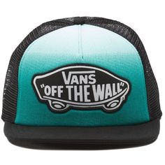 Vans Beach Girl Trucker Hat ($20) ❤ liked on Polyvore featuring accessories, hats, green, vans hats, beach hats, adjustable hats, green hat and logo hats