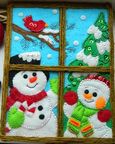 """Чудеса из фетра"" Нужен фетр и идеи?'s photos Christmas Stocking Kits, Etsy Christmas, Christmas Items, Felt Christmas, Christmas Snowman, Christmas Crafts, Holiday Door Decorations, Snowman Decorations, Snowman Crafts"