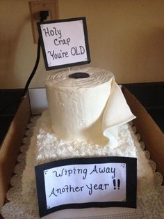 Holy Crap You're Old – A Hilarious Birthday Cake.