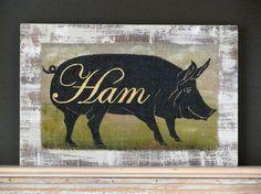 Pig painting HAMOriginal acrylic painting on by johnandgigiathome, $225.00