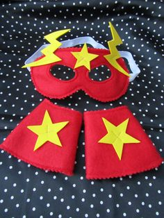 Superhero mask and cuffs for generally being by knittedswimsuit, £8.00