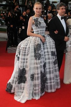 Diane Kruger shutting in down at Cannes in Dior Haute Couture. #redcarpet #fashion ~